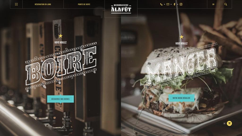 Microbrasserie À la Fût – Un site Web haut en couleur